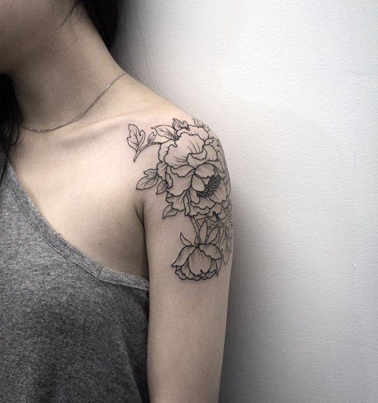 25 best flower tattoo shoulder ideas on pinterest. Black Bedroom Furniture Sets. Home Design Ideas