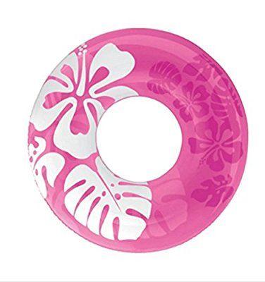 90cm couleur claire Flotteurs gonflable donut Bouée d'été piscine jouets eau gonflables Flotteurs jouets de natation Float Pour adultes, Rose