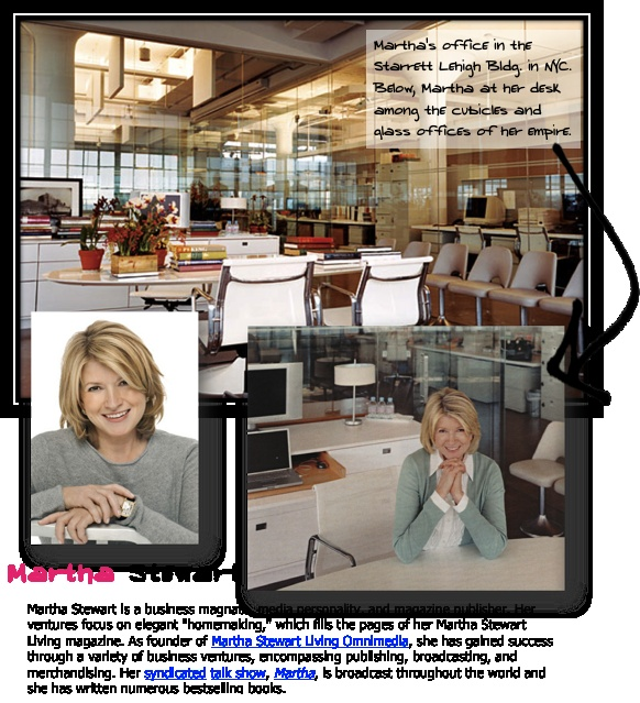 martha stewart entrepreneurship deciphered throughout the case study on martha stewart, evidence provided illustrates how public relations can alter the image of a national personality in both negative and positive lightsin particular, the case illustrates how stewart's initially poor public relations responses tarnished her image and, only after changing her tactics, did she.