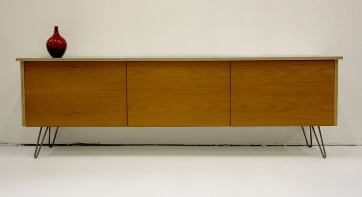 Teak Semihandmade doors on an IKEA Besta cabinet