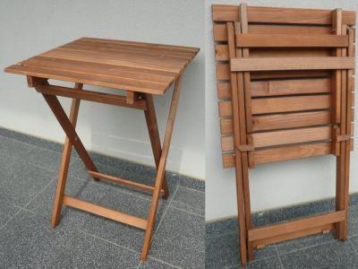 Stolik Stół Drewniany Składany Balkonowy Piknikowy 1