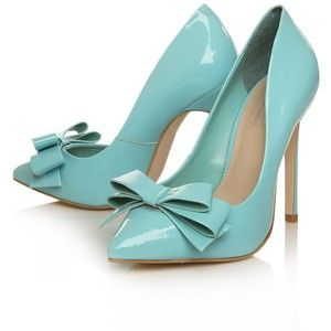 """""""Tiffany"""" colored heels this would be so pretty with a black nude or white color dress"""