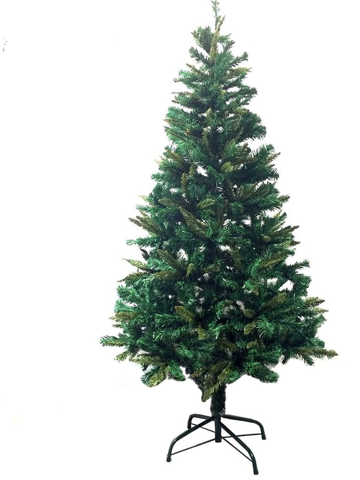 6' Ft Premium Canadian Pine Frasier Fir Green Artificial Christmas Tree Plush and Full - Unlit With Metal Tree Stand -- Final call for this special discount  : Christmas Trees