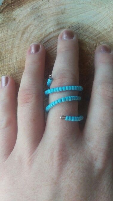 Wire wrap seed bead ring!