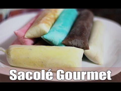 6 RECEITAS DE SACOLÉ (DINDIN) GOURMET   SACOLÉ ARCO-ÍRIS   - YouTube