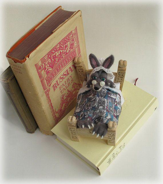 Wolf Fairytale Felted Mixed Media Art Doll by Mythillogical, £145.00