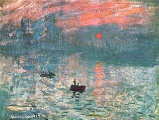 Impression du Soleil Levant - 1873 (Museu Marmottan, Paris) Quadro de Claude Monet que deu início ao Movimento Impressionista