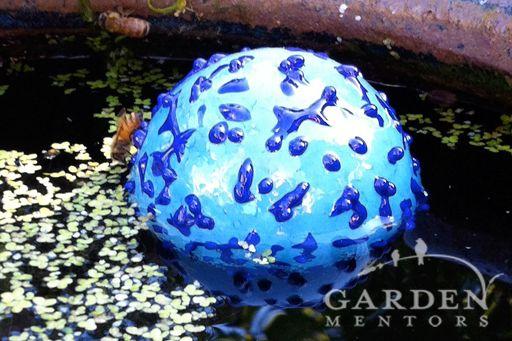 Glass Garden NW Bee Preserver = garden art that helps pollinators 2 ways. Learn more via gardenmentors.com