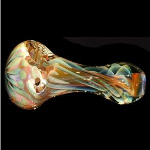 Glass Spoon Pipe - Heavy Inside Out Fume - Gold or Silver - Glass Pipes - Hand Pipes - Smoking Pipes - Grasscity.com
