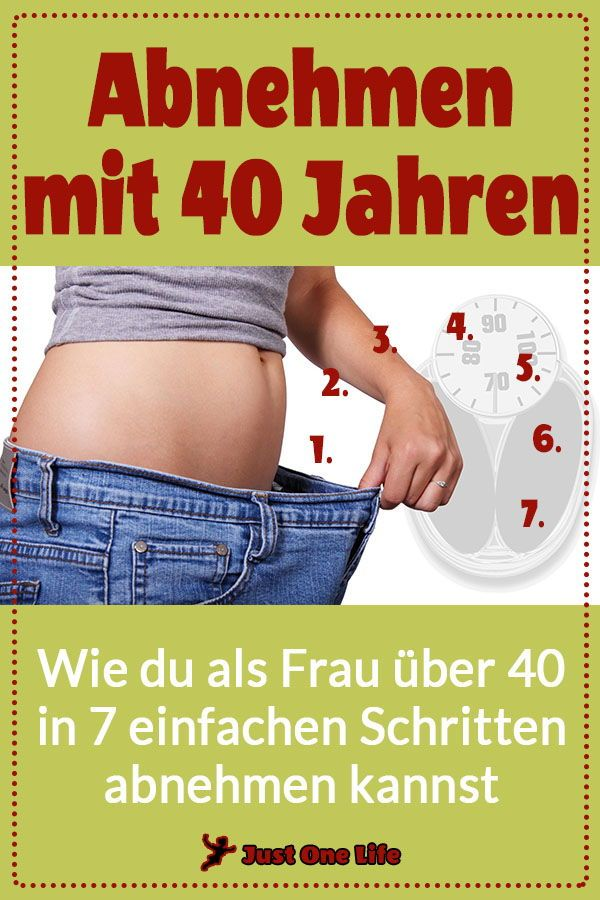 Wie man im Alter von 40 Jahren Gewicht verliert
