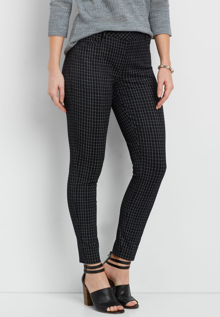 the bi-stretch plaid skinny ankle pant (original price, $39.00) available at #Maurices