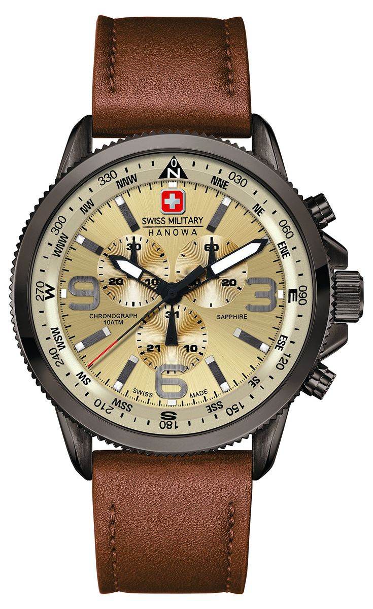 Swiss Military 6-4224-30-002 Mens Arrow Brown Chronograph Watch                                                                                                                                                                                 Mais