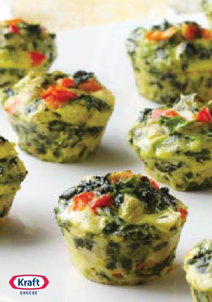 Mini Spinach Artichoke Frittatas – Pair spinach and artichokes with ...