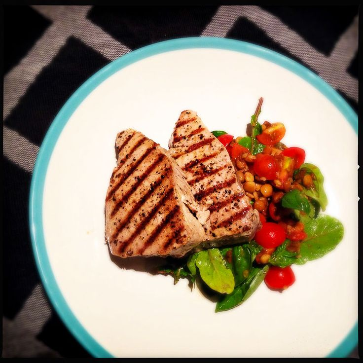 Griddled tuna steaks with tomato and caper salsa - Gino D'Acampo