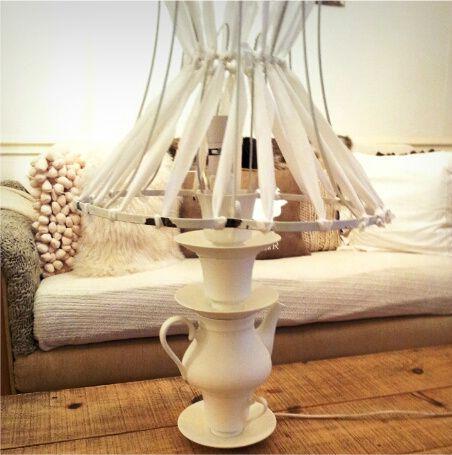 DIY tea cup lamp tutorial