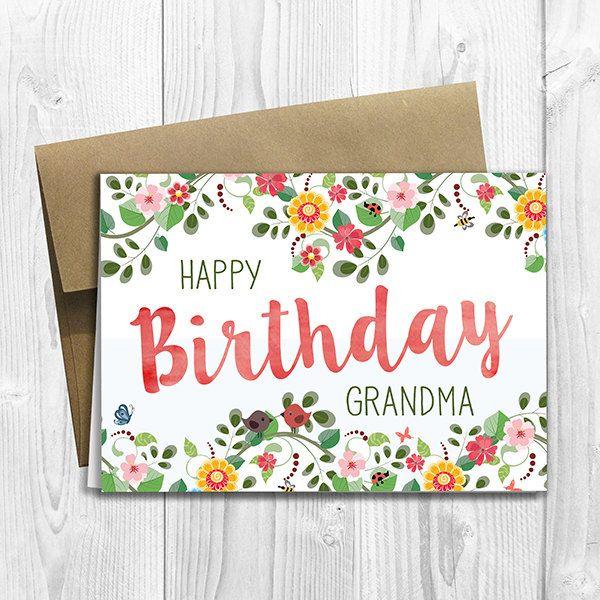 The 25 best Happy birthday grandma ideas – Nana Birthday Cards