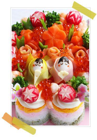 ひなまつりお寿司ケーキ