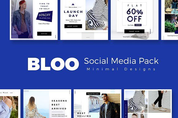 Bloo Social Media Kit by Prashanth Yadav on @creativemarket