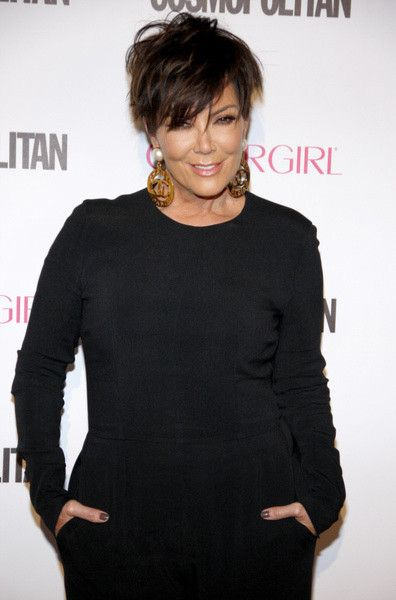 Kris Jenner with the bedhead look