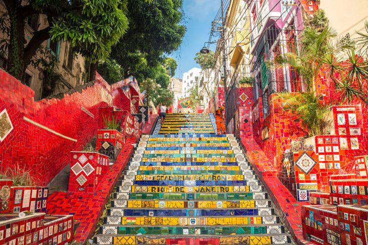 Escadaria Selaron, quartier de Santa Teresa à Rio de Janeiro