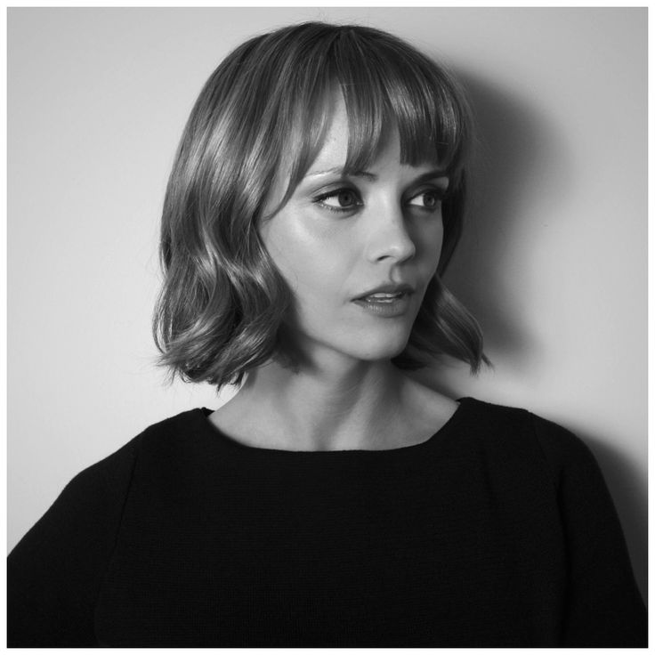 Christina Ricci bob haircut with bangs