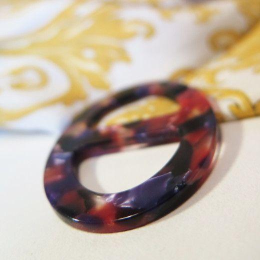 Elegantná ručne brúsená spona na šatku zo živice - farba11