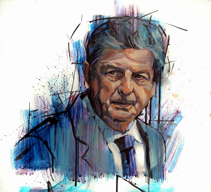 Roy Hodgson, England Manager. Oil on board by  jamelakib. www.jamelakib.com