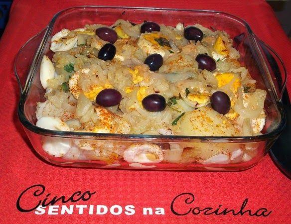 Cinco sentidos na cozinha: Bacalhau à Gomes de Sá