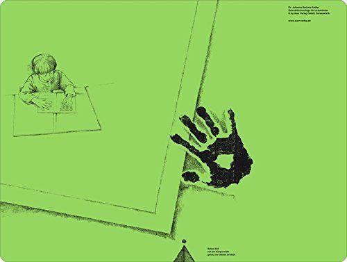 Schreibtischauflage für Linkshänder - Pinie-Grün: Alle Klassenstufen (Linkshändigkeit)