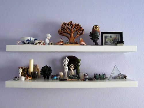 17 best images about altars shrines on pinterest wicca for Altar wall decoration