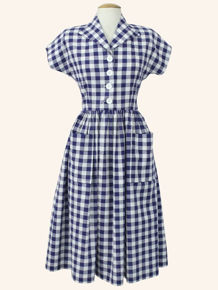 Kitty Dress Gingham from Vivien of Holloway