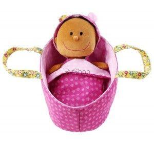Baby Zoe Lalka szmacianka w nosidełku Lilliputiens