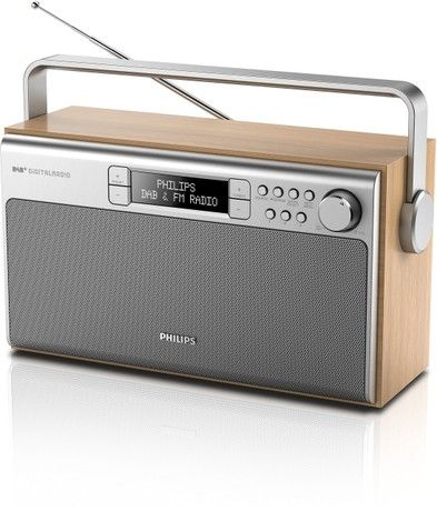 Philips AE5220/05 6W DAB+ FM Digital Tuner Portable Radio with Battery/AC Powered in Silver