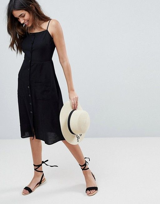fc4090cb1077a The Best Resort Wear To Bring On Your Warm Weather Escape | SUMMER OUTFITS  | Midi sundress, Fashion, Black dress outfits