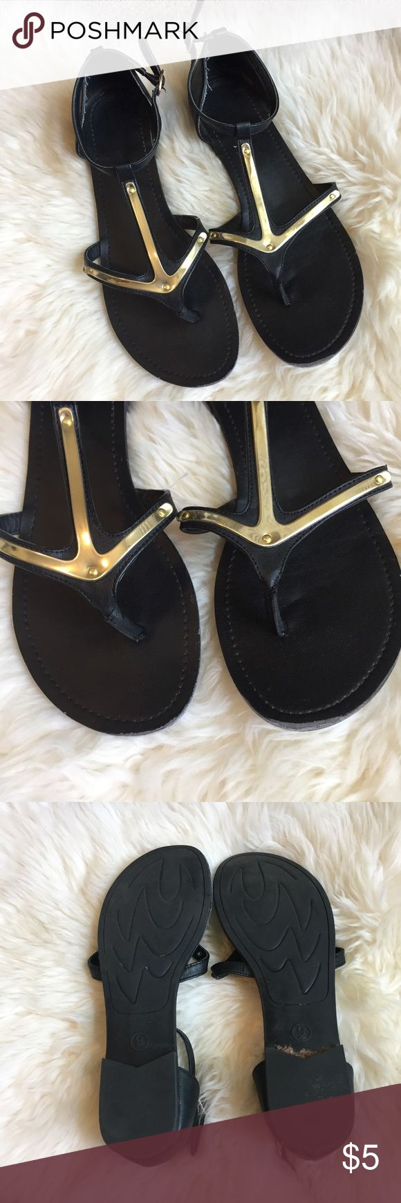 Gold anchor sandals Mossimo gold anchor sandals. Size 9. Good used condition. Mossimo Supply Co Shoes Sandals