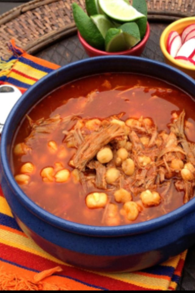 Pozole Rojo (Pork & Hominy Stew) | Recipe | Pozole rojo, Pozole and I ...