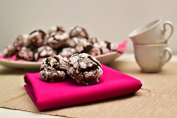 Cook with love: Popraskané čokoládové sušenky s brusinkami