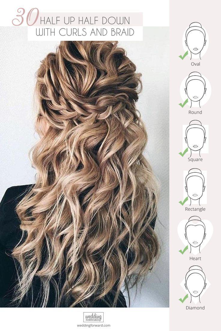 45 Perfect Half Up Half Down Wedding Hairstyles Wedding Forward Braided Hairstyles For Wedding Wedding Hair Down Hair Styles