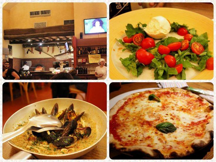 ☆共和AMELグルメ☆  イタリア・フィレンツェにある日本人の口コミランキング第1位の「イエローバー」です。 18時オープンですが、アッという間に満席になるくらいの人気店です。  魚介類のペペロンチーノリゾット(12E) マルガリータピザ(5E) モッツァレラチーズとトマトのカプレーゼ(4E)  いずれも本格的なイタリアン。 ボチュームたっぷり、味わいも最高!! とても雰囲気の良い店でした。  #イエローバー #グルメ #フィレンツェ  [共和薬品工業URL] http://www.kyowayakuhin.co.jp/