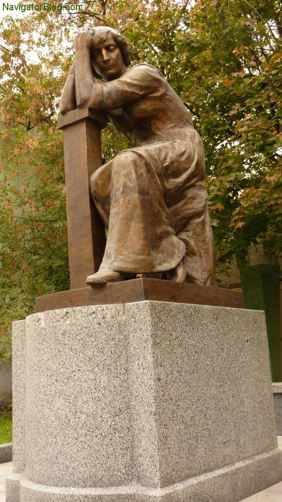 Statue in honor of Marina Tsvetaeva.  One of the many Russian poets who took their own lives during the Stalinist era rather than endure the terror, deprivations and humiliations not only put on them, but to their families as well.