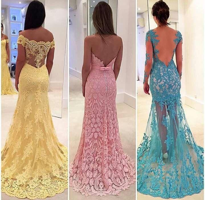 Modelo costas vestidos de festa
