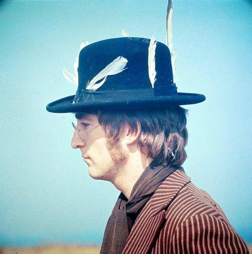 Lennon, via: the impossible cool: The Beatles, Mystery Tours, Happy Birthday, Magic Mystery, Feathers, David Redfern, Photo, John Lennon