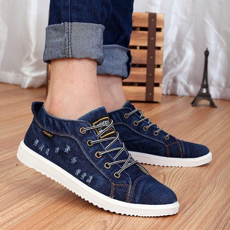 $19.89 (Buy here: https://alitems.com/g/1e8d114494ebda23ff8b16525dc3e8/?i=5&ulp=https%3A%2F%2Fwww.aliexpress.com%2Fitem%2F2015-New-Men-s-denim-shoes-to-help-low-canvas-shoes-men-shoes-casual-men-B0306%2F32561445268.html ) 2015 New Men's denim shoes to help low canvas shoes men shoes casual men B0306 for just $19.89