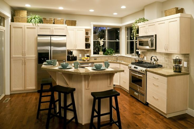 Curved kitchen island with stools home pinterest for Curved kitchen island designs