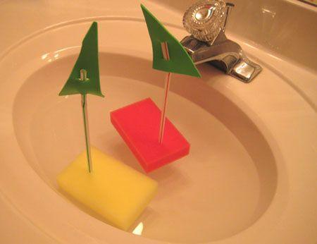 floating sponge boats...