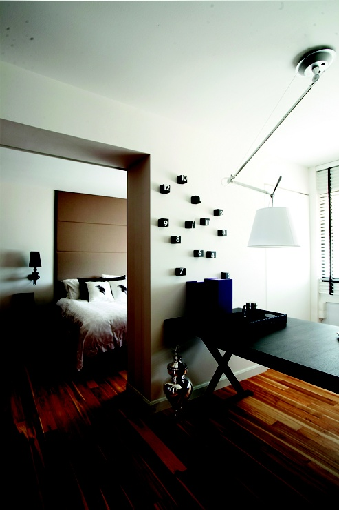 "Master Bedroom Hdb hdb in singapore ""by combining two bedrooms, a study area and a"