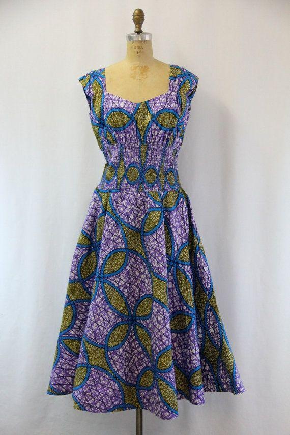 plus size vintage    PLUS SIZE Vintage Batik Dress XXL by SIZEisJUSTaNUMBER on Etsy, $94.00