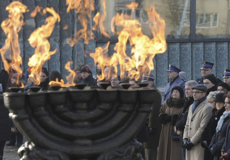 Holocaust Rememberance Day at site of Warsaw Ghetto Uprising