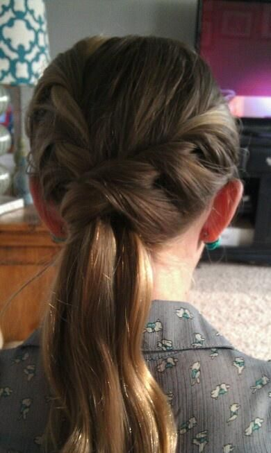 Twisted Braid Ponytail - Hairstyles and Beauty Tips