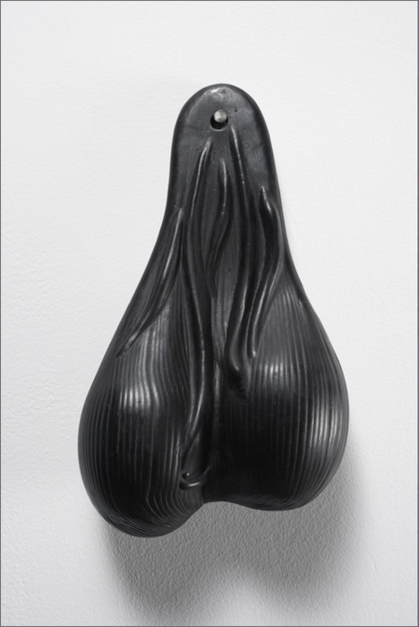 Gardar Eide Einarsson. Black Balls, 2008.  Bronze with black patina. 8 x 4 ¾ x 2 ¼ inches Edition of 10